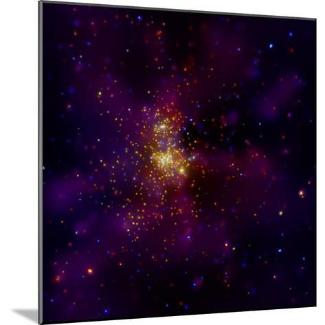 This Chandra X-ray Observatory Image Shows Westerlund 2, a Young Star Cluster--Mounted Photographic Print
