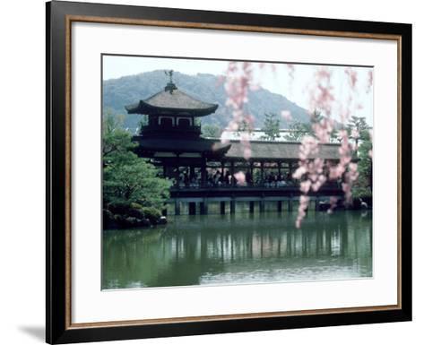 Garden Bridge of Heian-Jingu Shrine in Spring, Kyoto, Japan--Framed Art Print