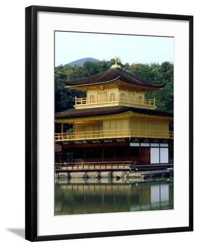 Kinkaku (Golden Pavillion) in the Garden of Rokuon-Ji Temple, Kyoto, Japan--Framed Art Print