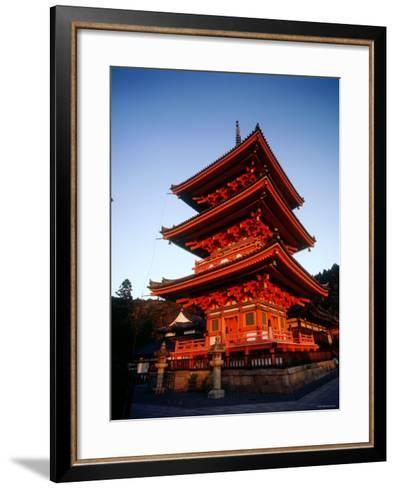 Three-Story Pagoda of Kiyomizu Temple (Kiyomizudera), Kyoto, Japan,--Framed Art Print