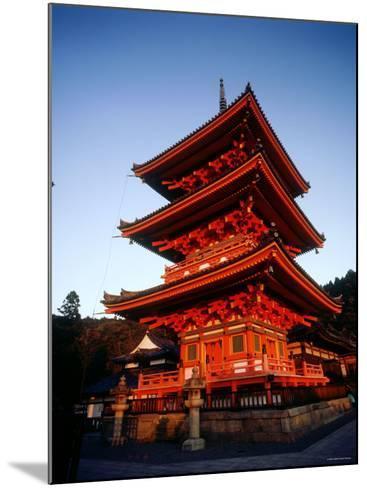 Three-Story Pagoda of Kiyomizu Temple (Kiyomizudera), Kyoto, Japan,--Mounted Photographic Print