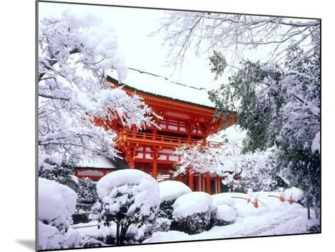 Kamigamo Shrine in Snow, Kyoto, Japan--Mounted Photographic Print