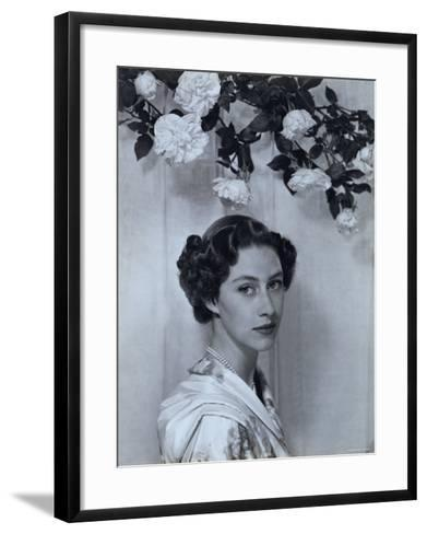 Portrait of the Late Princess Margaret, Countess of Snowdon, 21 August 1930 - 9 February 2002-Cecil Beaton-Framed Art Print