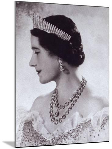 Portrait with Tiara of Her Majesty Queen Elizabeth, the Queen Mother-Cecil Beaton-Mounted Photographic Print