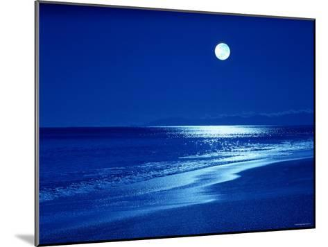 Full Moon Over the Sea--Mounted Photographic Print