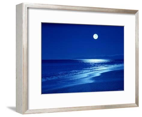 Full Moon Over the Sea--Framed Art Print