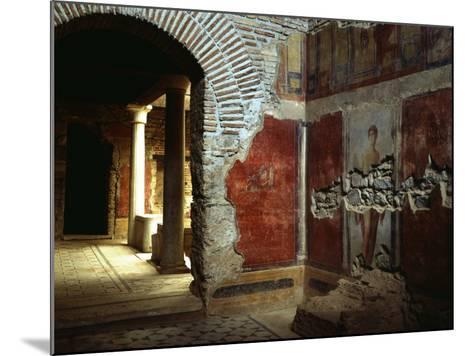 Interior court of Roman villa on Mount Coressos, Ephesus, Turkey--Mounted Photographic Print