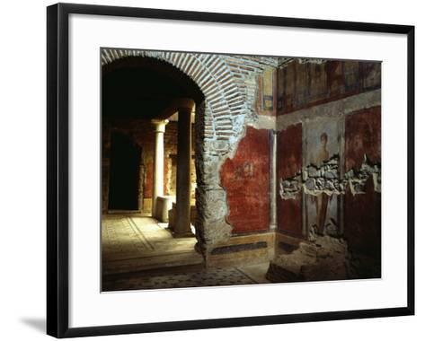 Interior court of Roman villa on Mount Coressos, Ephesus, Turkey--Framed Art Print