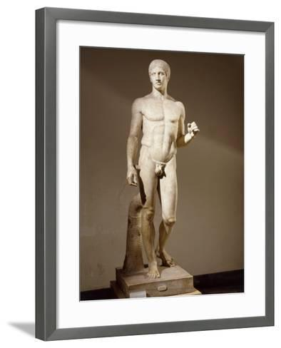 Statue of Doryphorus or Spear Carrier from a Greek Original--Framed Art Print