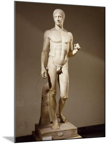 Statue of Doryphorus or Spear Carrier from a Greek Original--Mounted Photographic Print