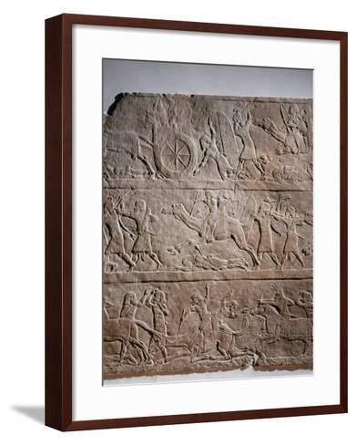 Assyrian Troops of King Ashurbanipal take Asian Territories--Framed Art Print