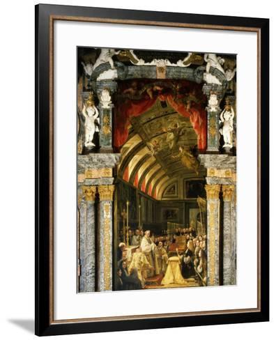 Holy Communion of Charles II, 1661-1700, King of Spain-Claudio Coello-Framed Art Print