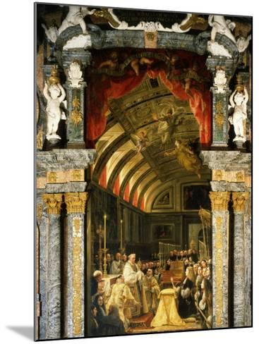 Holy Communion of Charles II, 1661-1700, King of Spain-Claudio Coello-Mounted Photographic Print