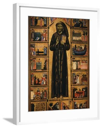 Altarpiece with Life of Saint Francis of Assisi-Tuscan School-Framed Art Print