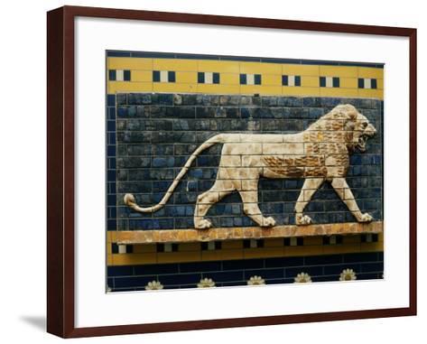Lion, Glazed Brick Relief, 604-562 BC, Neo-Babylonian--Framed Art Print