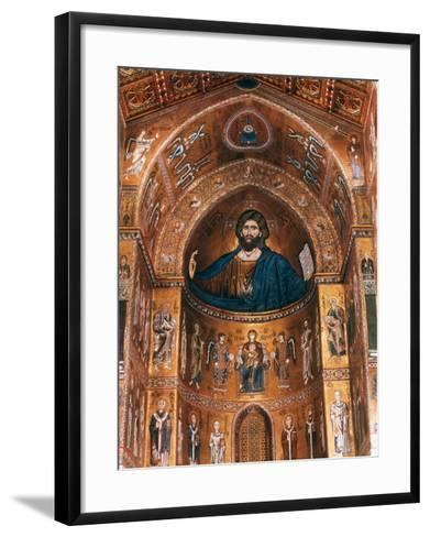 Mosaics on Apse including Christ Pantocrator, 12th century--Framed Art Print