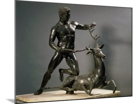Herakles Wrestling the Hind of Ceryneia, One of his Twelve Labours, Bronze--Mounted Photographic Print