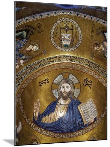 Christ Pantocrator, Palatine chapel, Palazzo dei Normanii or Palazzo Reale, Palermo, Sicily--Mounted Photographic Print
