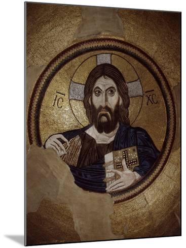 Christ Pantocrator, Mosaic, Cupola, Daphni Monastery, late 11th century Byzantine, Greece--Mounted Photographic Print