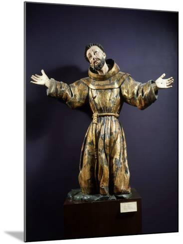 Saint Francis of Assisi in Ecstasy, Painted and Gilded Wood, 17th century Mexican--Mounted Photographic Print