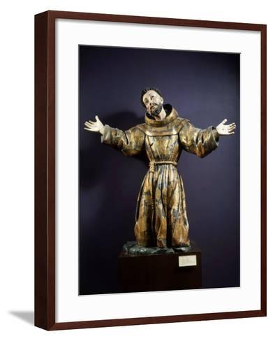 Saint Francis of Assisi in Ecstasy, Painted and Gilded Wood, 17th century Mexican--Framed Art Print