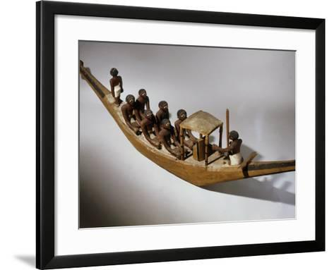 Boat, Model, Painted Wood c. 2000 BC Middle Kingdom Egyptian--Framed Art Print