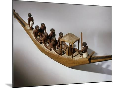 Boat, Model, Painted Wood c. 2000 BC Middle Kingdom Egyptian--Mounted Photographic Print