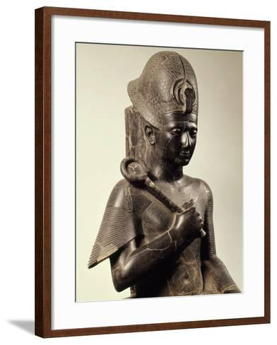Ramses II, 1279-13 BC 19th Dynasty New Kingdom Egyptian Pharaoh, Seated on Throne, Granite--Framed Art Print