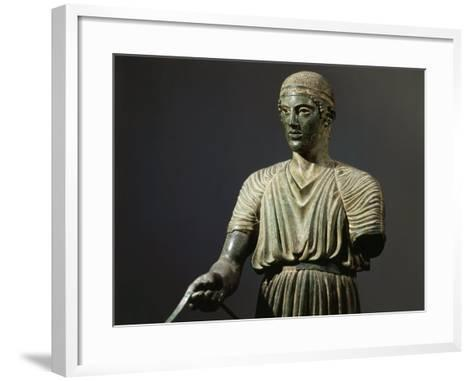 The Charioteer of Delphi, Bronze, c. 478 BC Archaic Greek--Framed Art Print