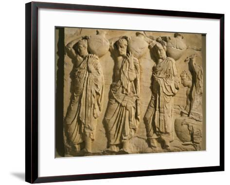 Bearers Carrying Hydria, the Parthenon Frieze (East Side), c. 442-38 BC Classical Greek--Framed Art Print