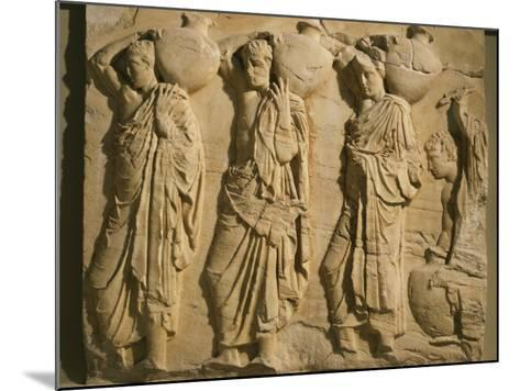 Bearers Carrying Hydria, the Parthenon Frieze (East Side), c. 442-38 BC Classical Greek--Mounted Photographic Print