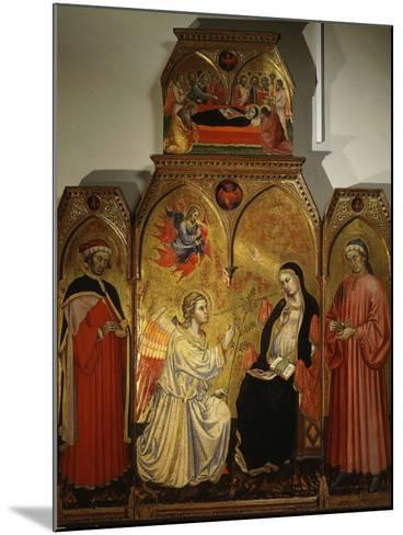 The Annunciation, with Saints Cosmas and Damian, 3rd Century Martyrs-Taddeo di Bartolo-Mounted Photographic Print