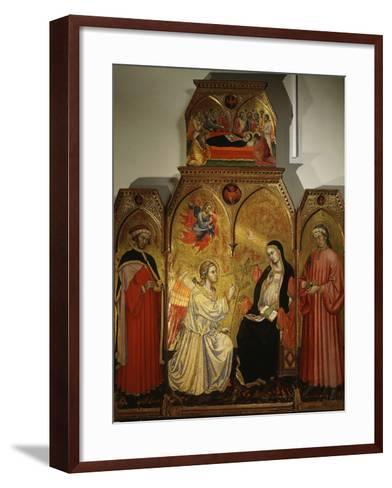 The Annunciation, with Saints Cosmas and Damian, 3rd Century Martyrs-Taddeo di Bartolo-Framed Art Print