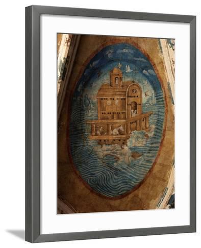 Noah's Ark, Fresco, 1562, Tecamachalco, Puebla, Mexico-Juan Gerson-Framed Art Print