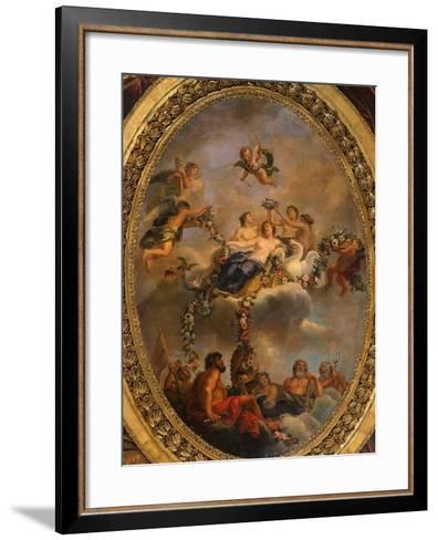 Venus Subjecting the Gods and the Powers to Her Empire, Ceiling, Salon of Venus-Ren? Antoine Houasse-Framed Art Print