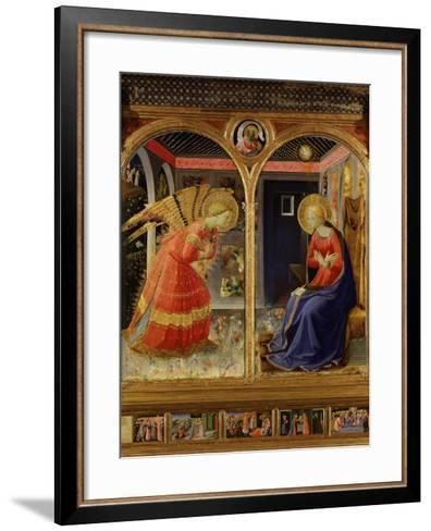 The Annunciation, from C. 1440 Altarpiece of Convent of Montecarlo-Fra Angelico-Framed Art Print