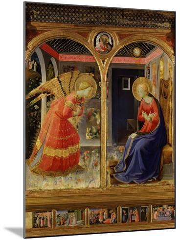 The Annunciation, from C. 1440 Altarpiece of Convent of Montecarlo-Fra Angelico-Mounted Photographic Print