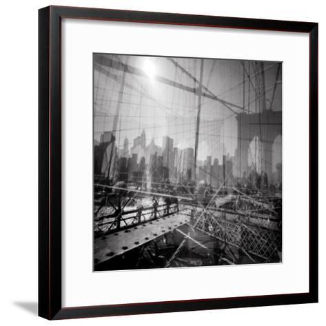 Brooklyn Bridge Triple-Evan Morris Cohen-Framed Art Print
