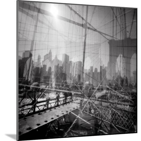 Brooklyn Bridge Triple-Evan Morris Cohen-Mounted Photographic Print
