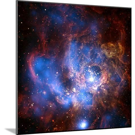 Composite Image from Chandra and Hubble Data, Divided Neighborhood of Some 200 Hot, Young Stars--Mounted Photographic Print