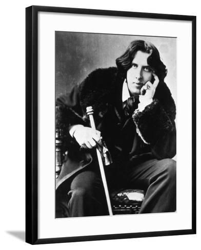 Oscar Wilde, 1882--Framed Art Print