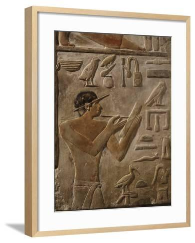 False Door Stele of Mery, Scribe and Head of Royal Archives at Saqqarah, (c. 2575-2450 BC)--Framed Art Print