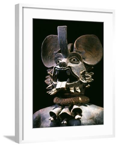 The God Murcielago, Terracotta, Aztec, from Chalco, Mexico--Framed Art Print