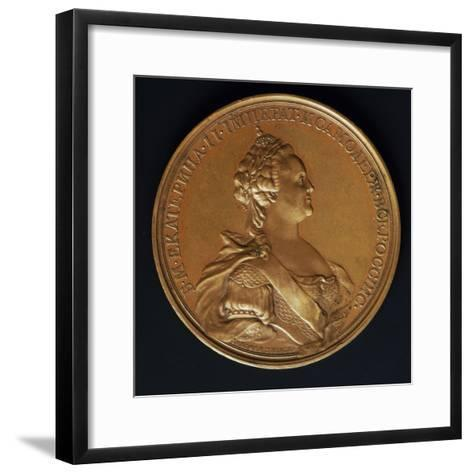 Catherine the Great, Commomoration Coin by Ivanoff--Framed Art Print