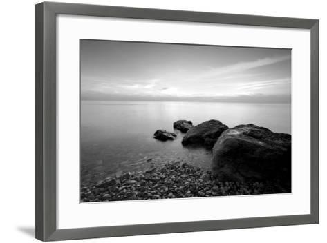 Rocks on Beach-PhotoINC-Framed Art Print