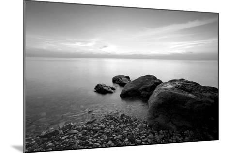Rocks on Beach-PhotoINC-Mounted Photographic Print