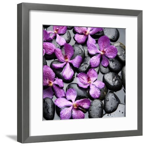 Zen Pebbles--Framed Art Print