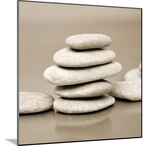 Zen Pebbles--Mounted Photographic Print