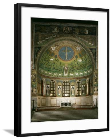 Christ and Cross with Prophets Moses, Elias and Saint Apollinare, Sant Apollinare Basilica, Italy--Framed Art Print