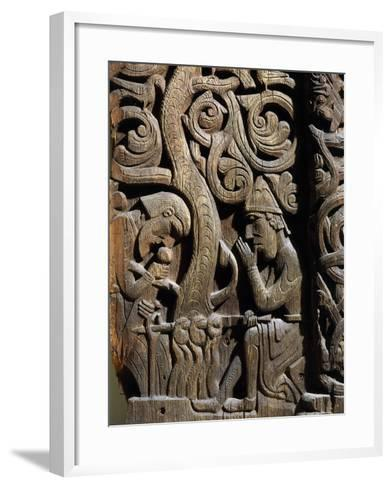 Nordic Saga or Legend of Siegfried or Sigurd, 12th century wood panel from Setesdale Church Norway--Framed Art Print